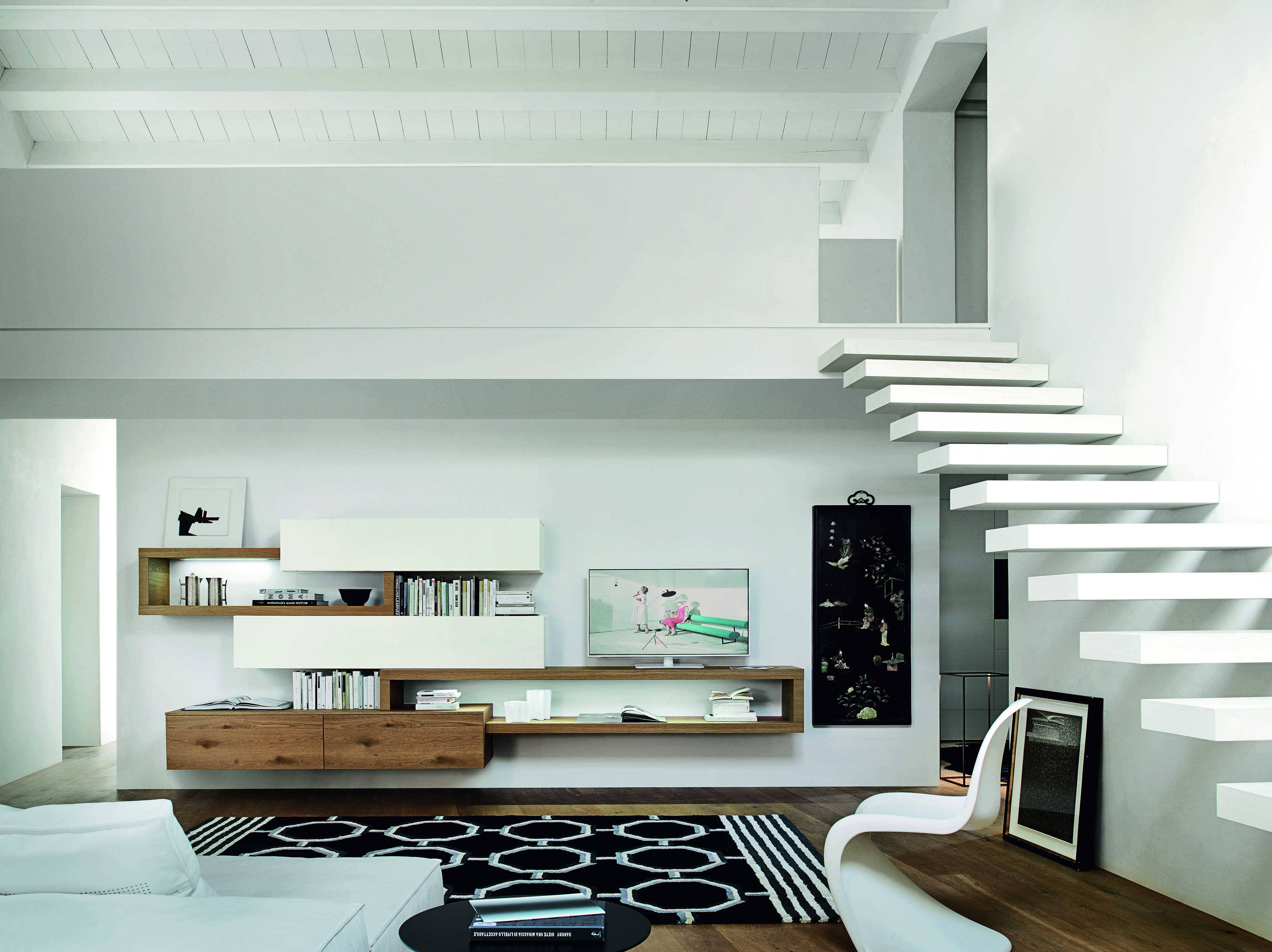 Exklusive Design Wohnwand Aus Italien Mit Schwebenden TV Board Und  Hängeschränke Ist Die Livitalia Wohnwand C25. #Wohnwand #modern  #Hängeschränke #tvboard ...