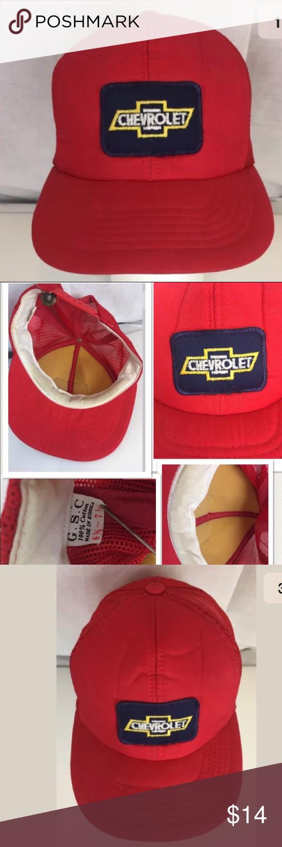 VTG Chevy Chevrolet Trucker Snapback Hat Baseball Vintage