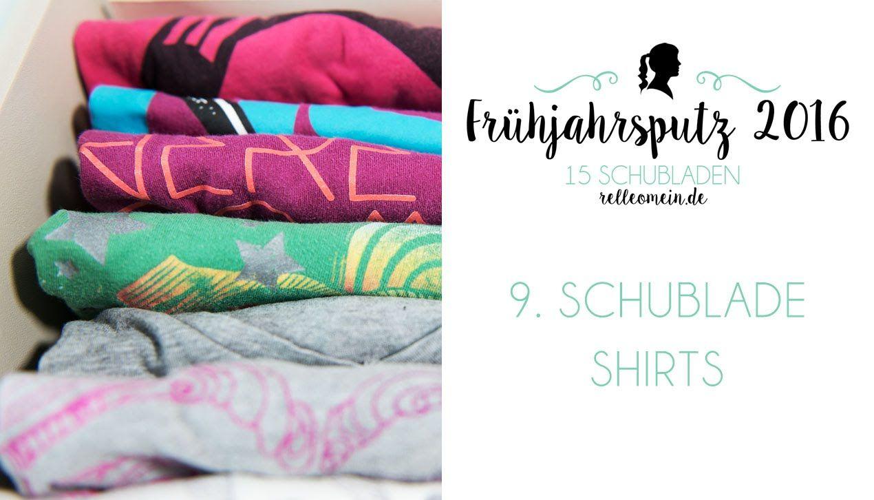 Trend Fr hjahrsputz Kleiderschrank organisieren T Shirts Schublade