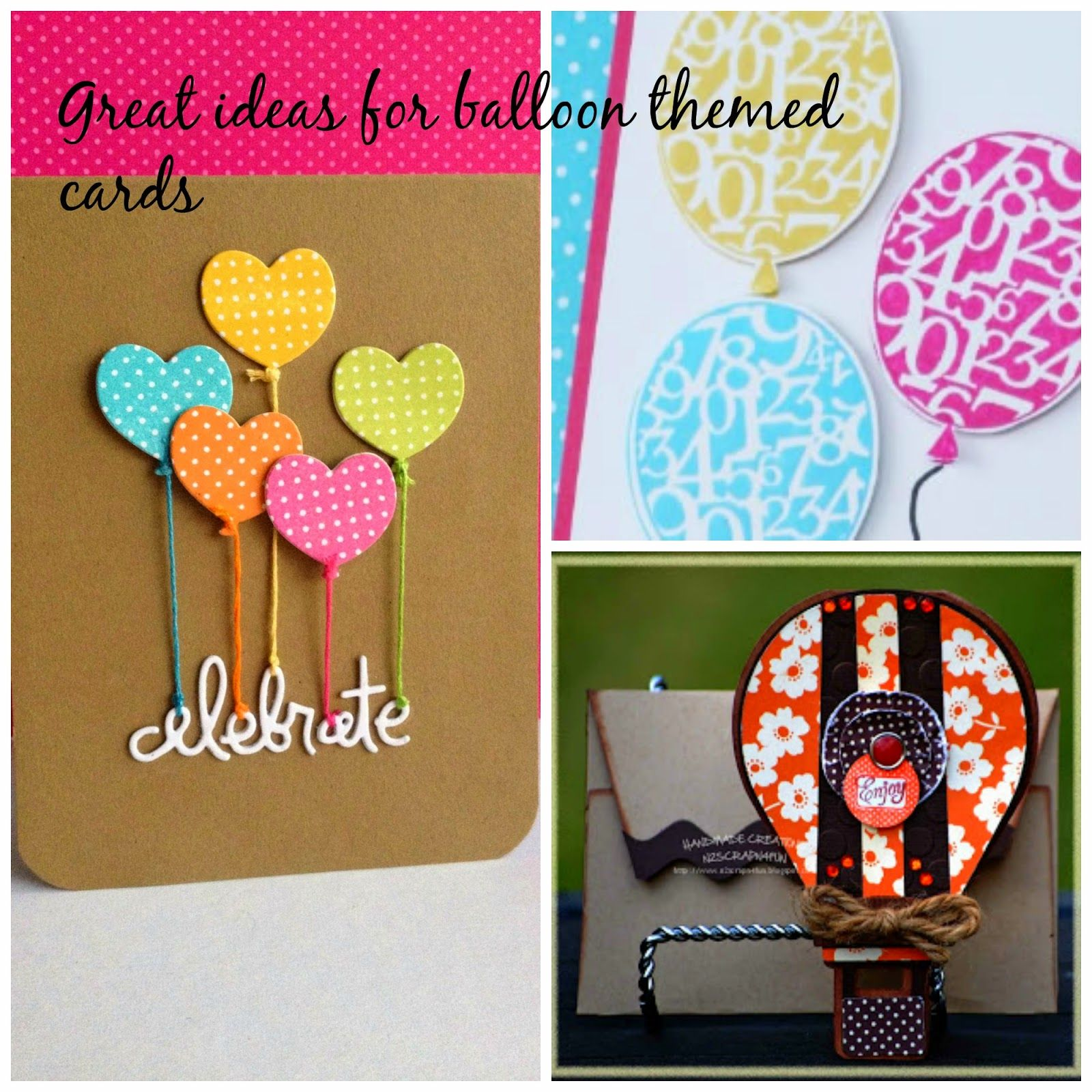 5 great ideas for cute and easy balloon themed handmade greeting 5 great ideas for cute and easy balloon themed handmade greeting cards kristyandbryce Images