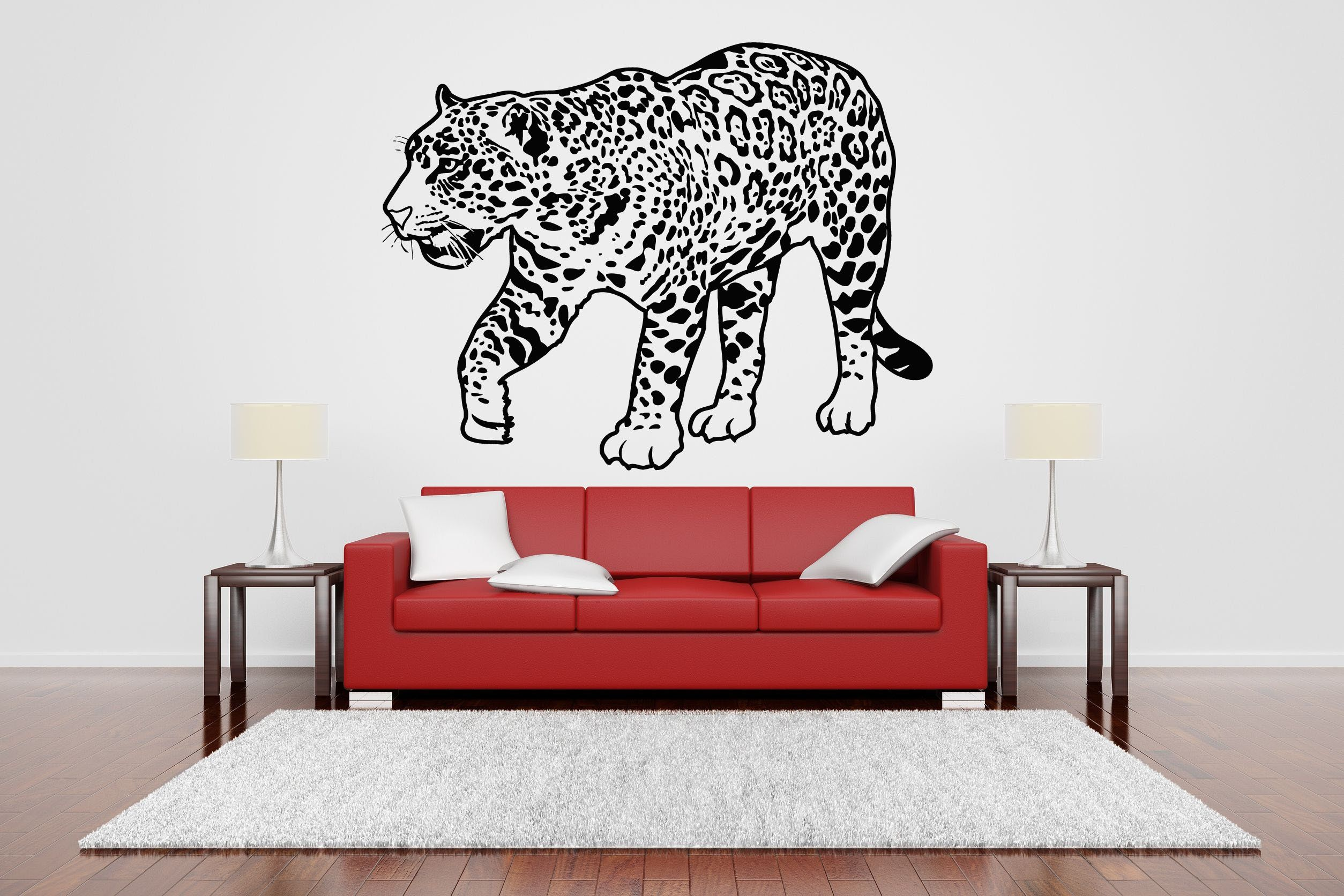 Wall Room Decor Art Vinyl Sticker Mural Decal Jaguar Leopard Cat - Vinyl decal cat pinterest
