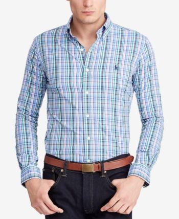 Men Shirts Polo Ralph Lauren Men's Performance Twill Button