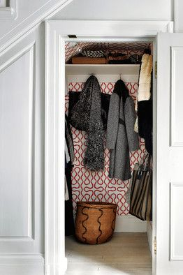 Pic of Vivienne Westwood Sqiggle in a closet from TWSJ.