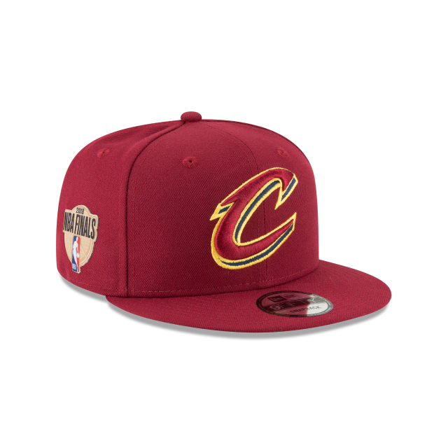 4de5d9ab79543 The Cleveland Cavaliers NBA Finals 9FIFTY Snapback features a team color  fabrication with an embroidered Cavaliers logo at the front panels and an  NBA ...