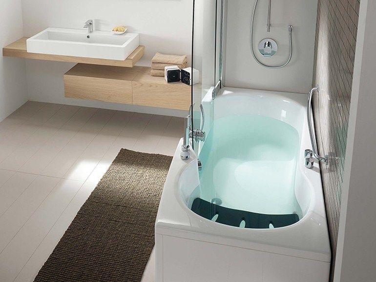 Vasca da bagno con doccia 382 384 385 teuco bathroom for Vasca teuco