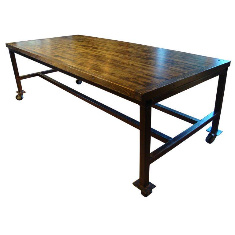 Industrial Table Industrial Table Steel Table Base Industrial Decor