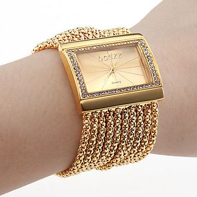 73abdfd1f Women's Watch Bracelet Gold Diamond Case Alloy Band - USD $ 19.99 ...