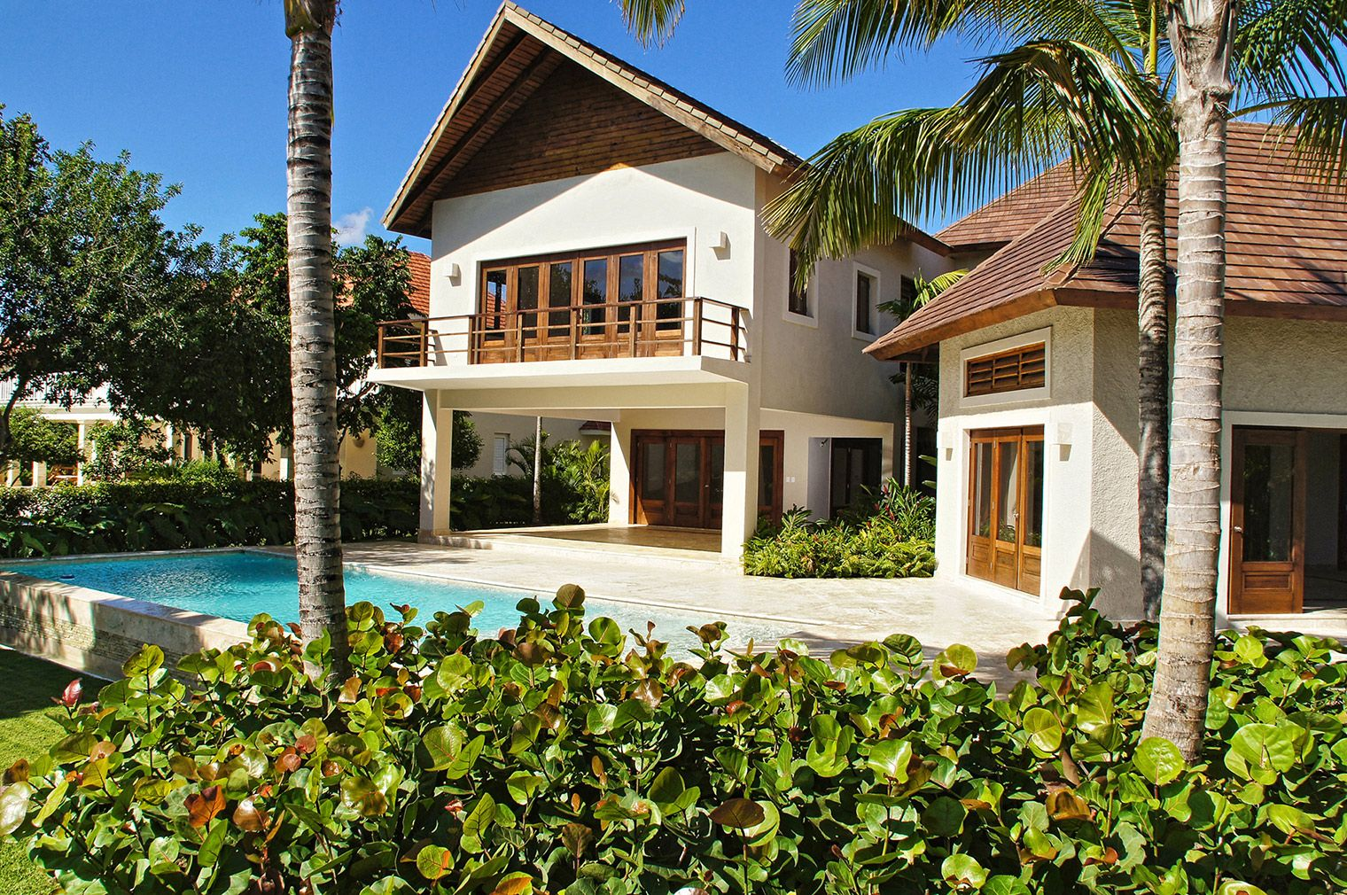 Tortuga Bay Estate home overlooking La Cana Golf Course. Designed and constructed by Grupo Dupla, Dominican Republic. #dominicanrepublicrealestate,  #luxuryrealestate, #luxuryhomebuilder, #design, #architech