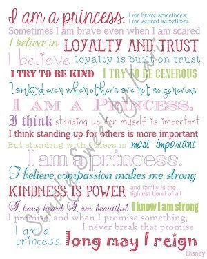 Disney I Am A Princess Quote Kinsley Stuff Princess Quotes