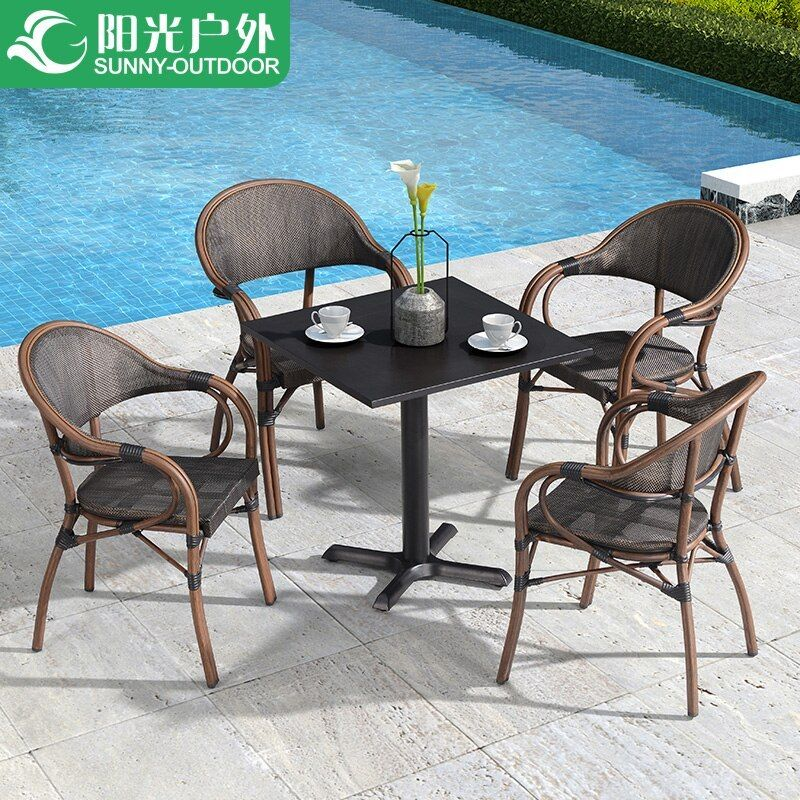 Outdoor Table And Chairs Patio Balcony Coffee Table Chair Three Or