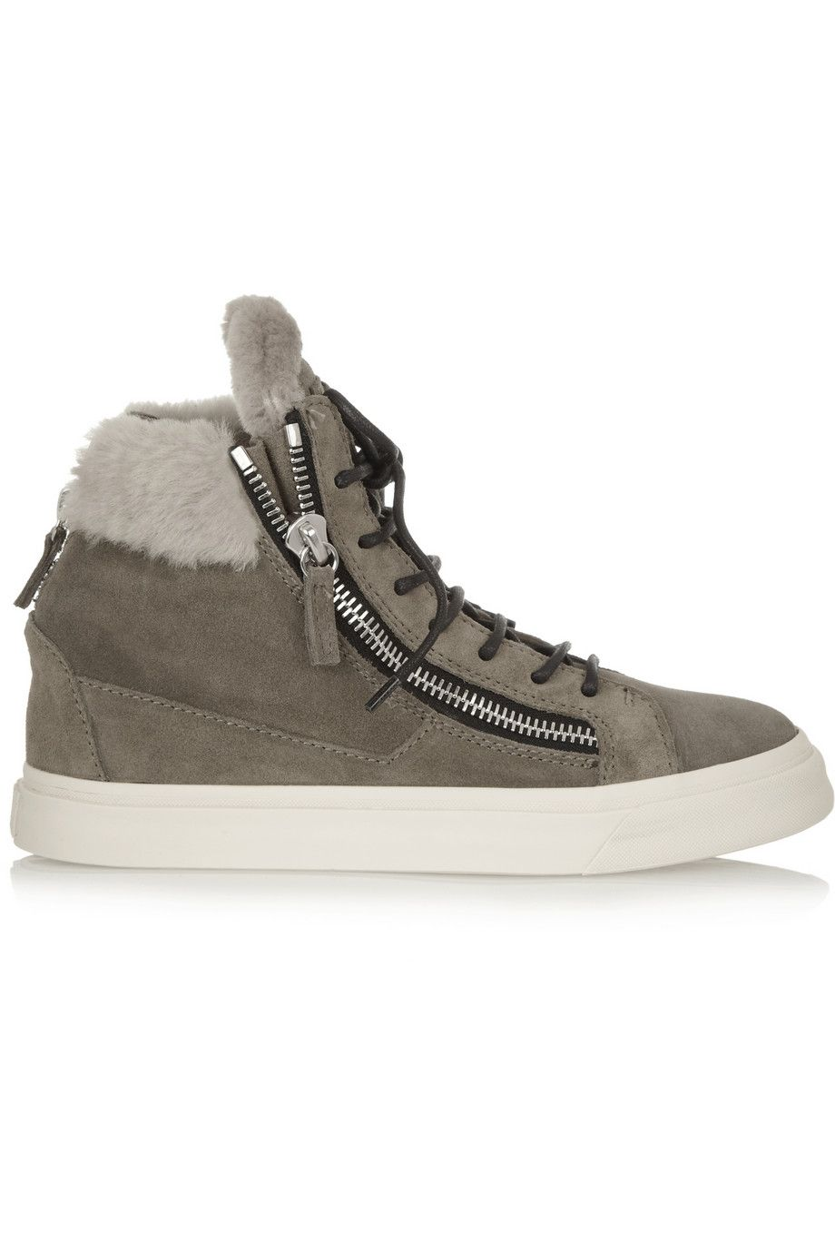 Giuseppe Zanotti Shearling May London High-Top Sneakers Discount Footaction mpNfEL