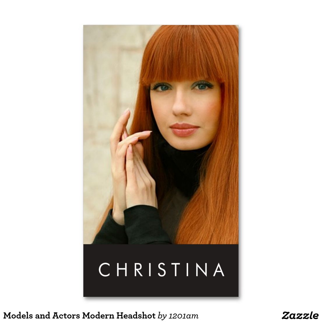 Models and Actors Modern Headshot Business Card | Business cards ...