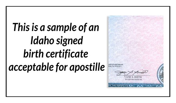State of Idaho Certificate of Marriage signed by Marie Scott State - copy certificate of good standing maryland