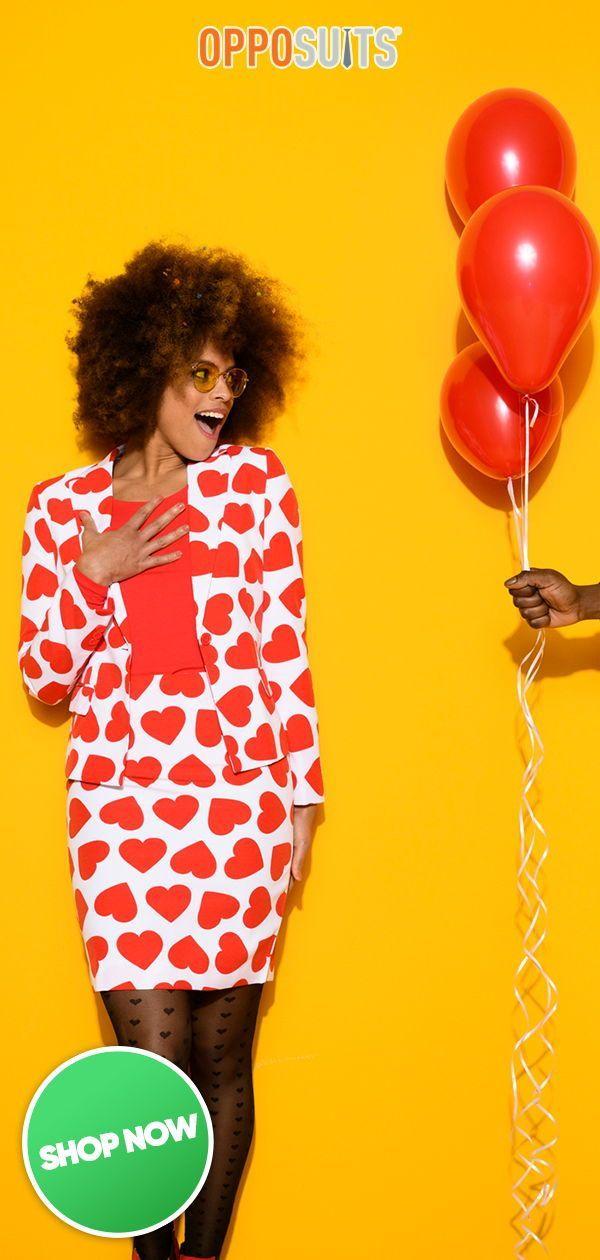 Queen of Hearts | Schicker Herz Anzug für Damen | OppoSuits Queen of Hearts | Schicker Herz Anzug fü...