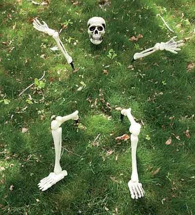 Buried on the Lawn Skeleton Decoration, 5 Pieces halloween