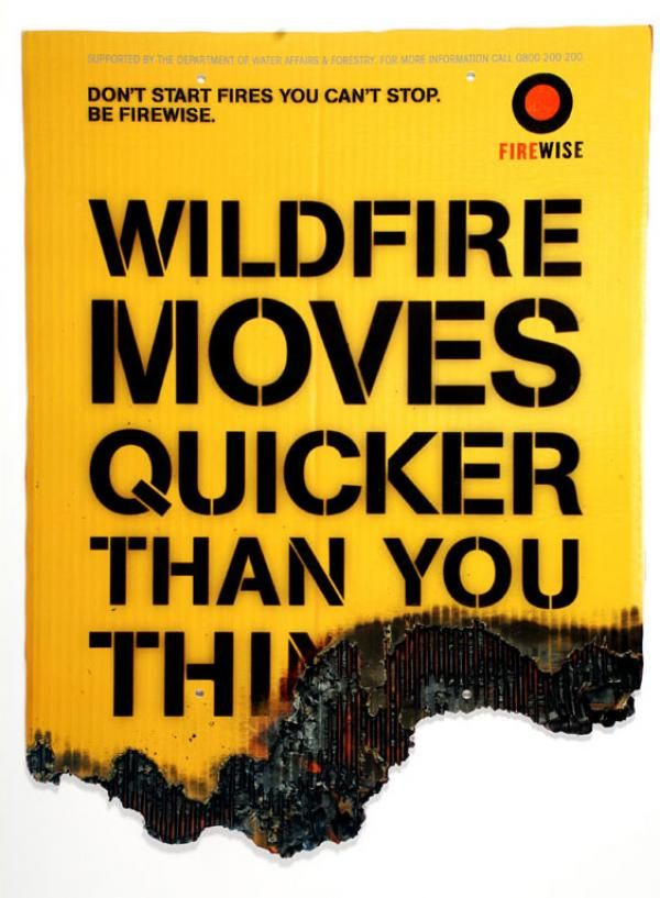 Wildfire Moves Quicker Than You Think Poster Severe Weather