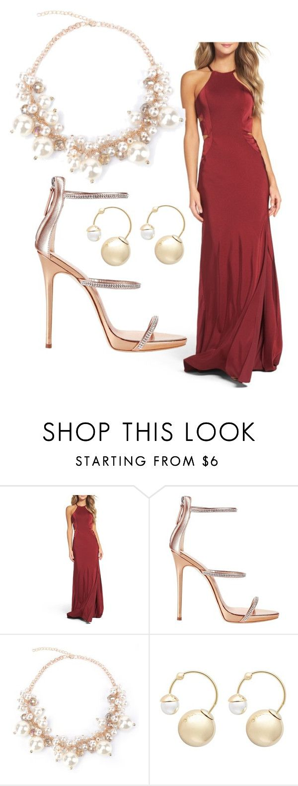 """Untitled #164"" by cchhaanntteell on Polyvore featuring La Femme, Giuseppe Zanotti and Witchery"