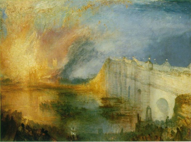 The Burning of the House of Lords and Commons 16th October ...