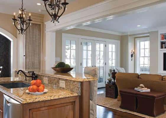 Family room additions granite countertops design dream for Family room addition pictures