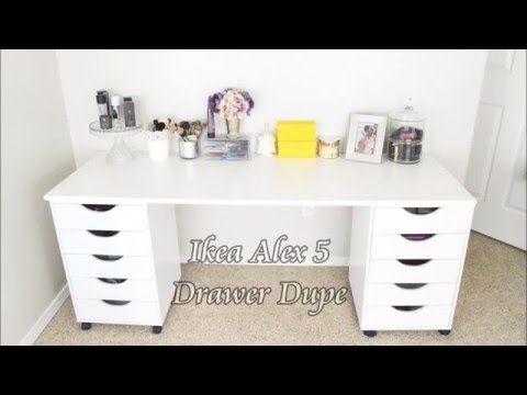 Ikea Alex 5 Drawer Dupe Vanity Youtube Ikea Vanity Ikea