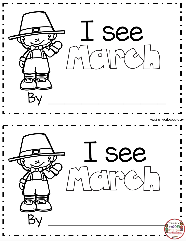 March Math Amp Ela Kindergarten Pack