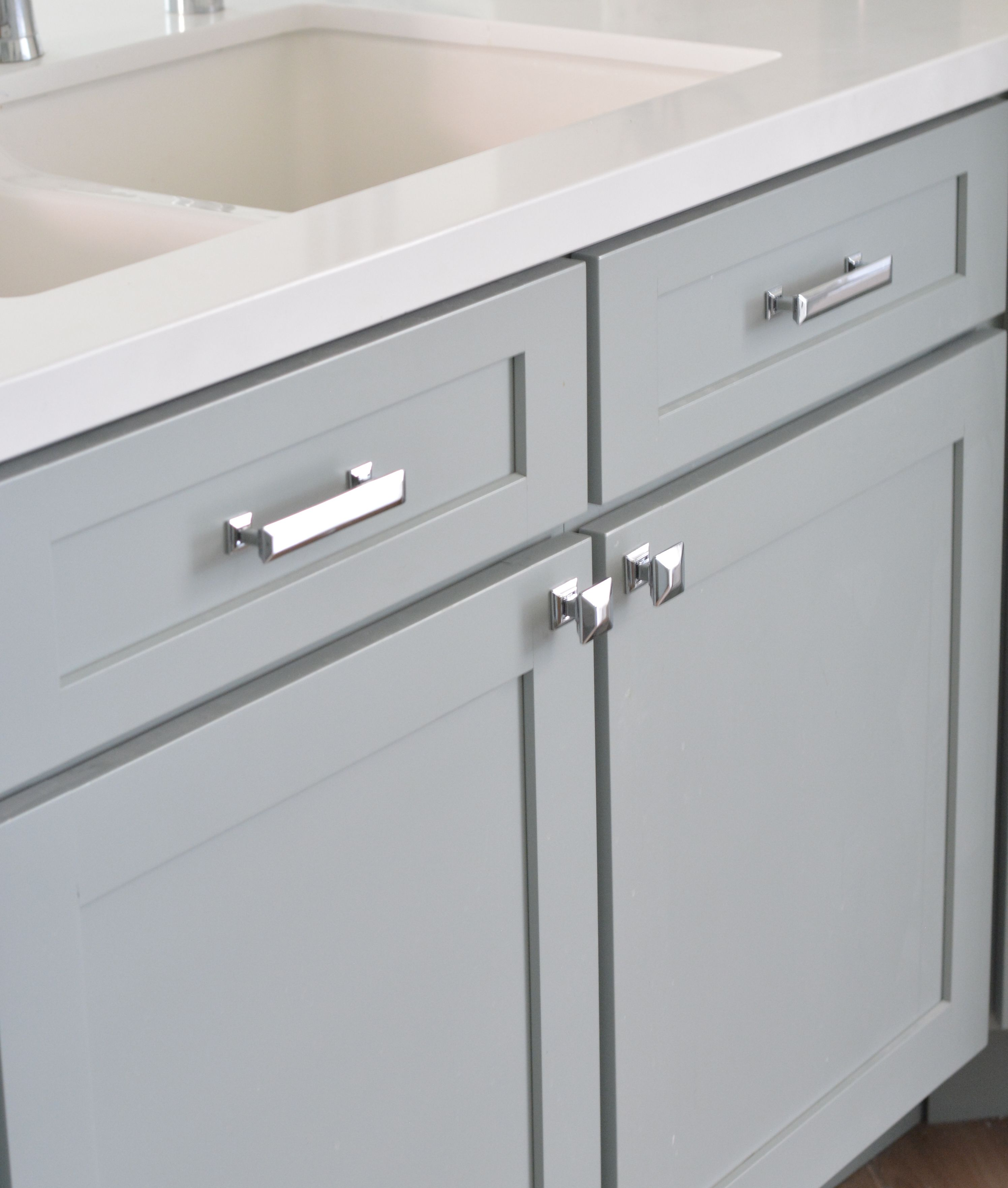 Some folks prefer using two handles on a wide drawer.