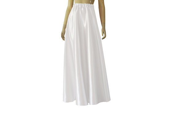 3d36cae961 Wedding skirt Satin maxi white long half circle high by  EKshop-$59.99-Assorted Colors