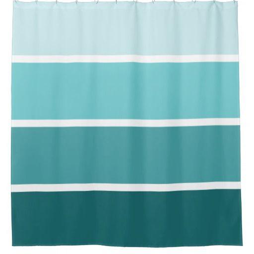 teal striped shower curtain. Aqua Teal Blue Striped Shower Curtain  Blue And
