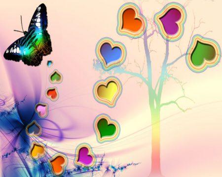 خلفيات الوان بجودة Hd خلفيات ملونة 2018 حلوة ميكساتك Love Wallpaper Butterfly Abstract Artwork