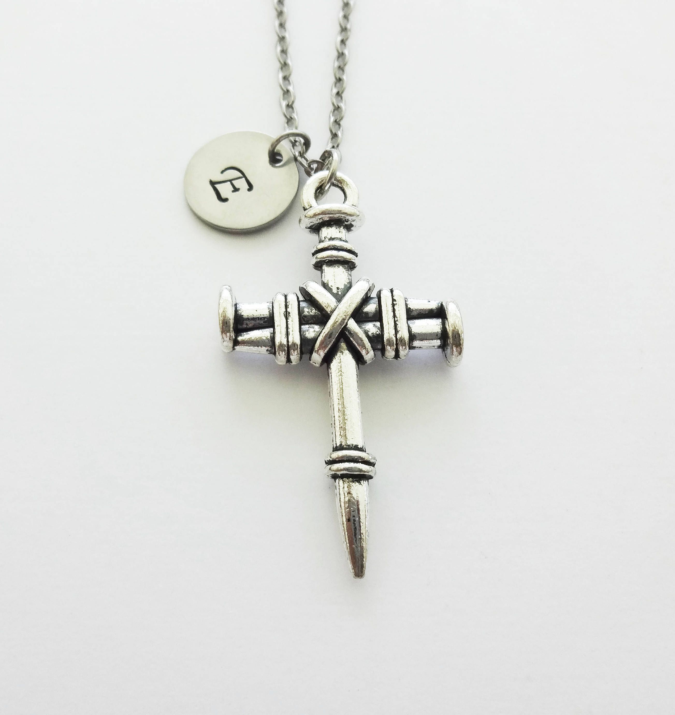 Cross Necklace, 3 Nail Cross, Christian, Religious, Confirmation ...