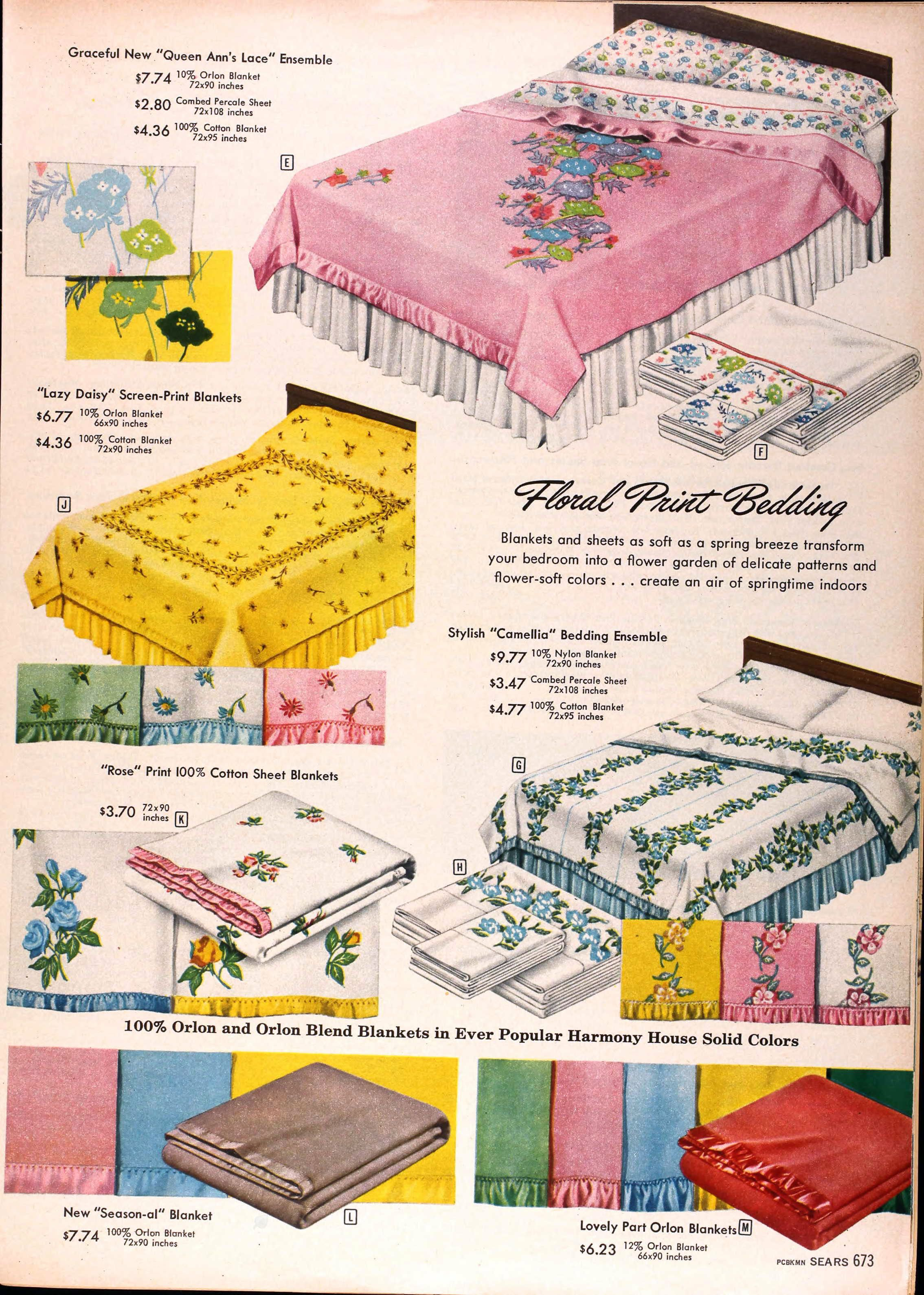 vintage sears bedspread   sears catalog highlights: spring/summer