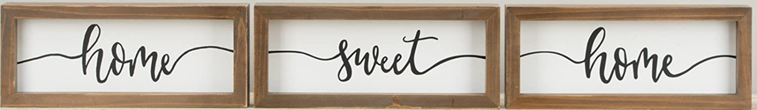 Glory Haus 35101702 Home Sweet/Oh Happy Day Framed Boards, Multicolor