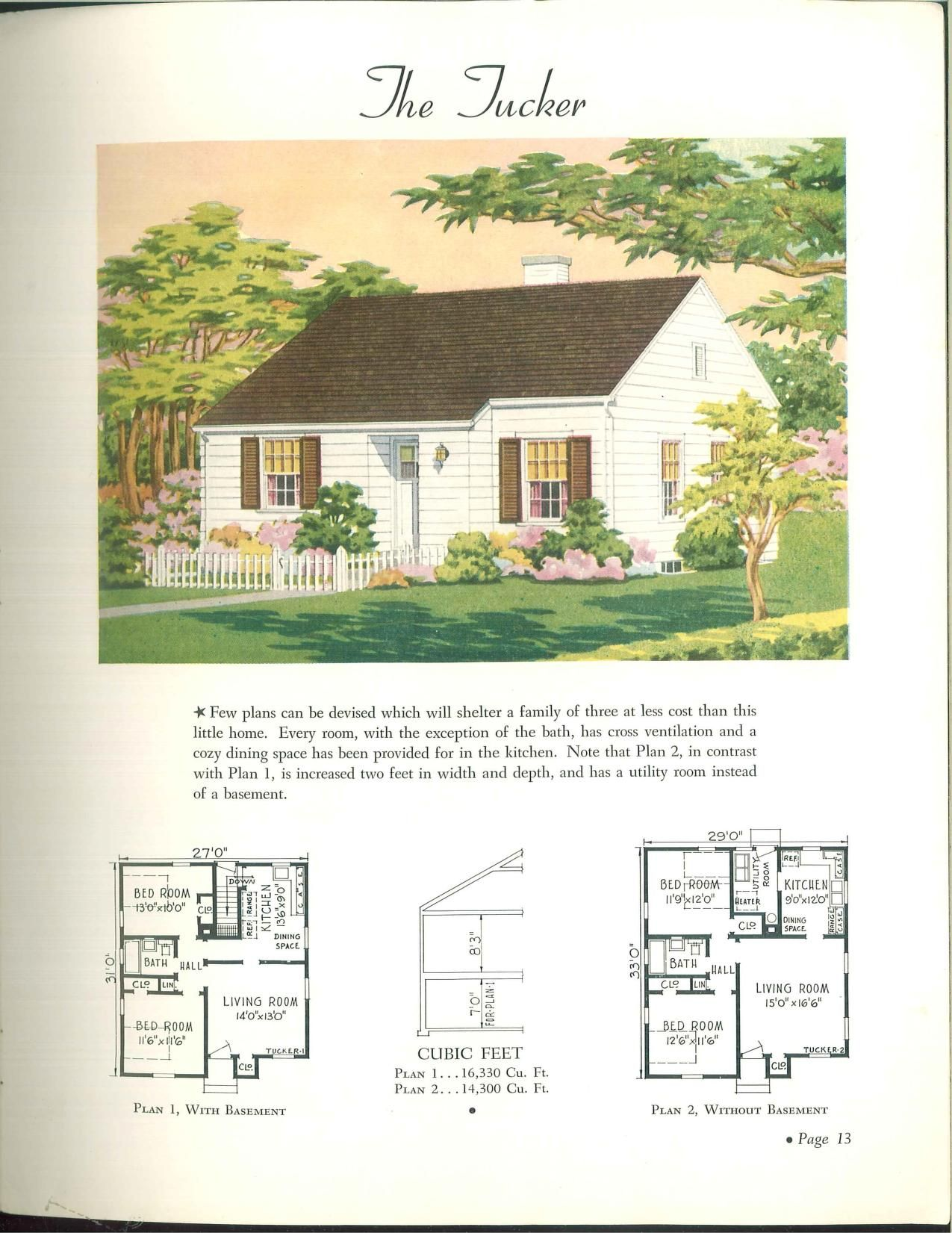 the tucker wahlfeld 1942 fantastic cottage style home the 40 s rh pinterest com