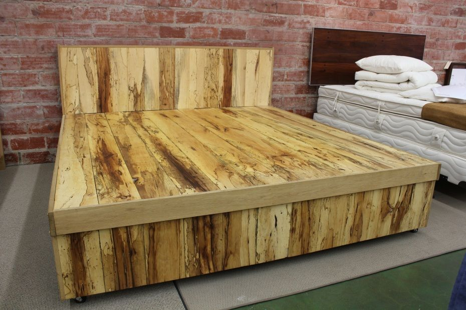 California king bed with storage building plans over