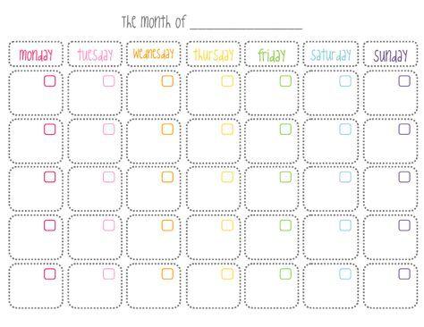Calendario En Blanco.Calendario Mensual En Blanco Imprimible Mas Imprimibles