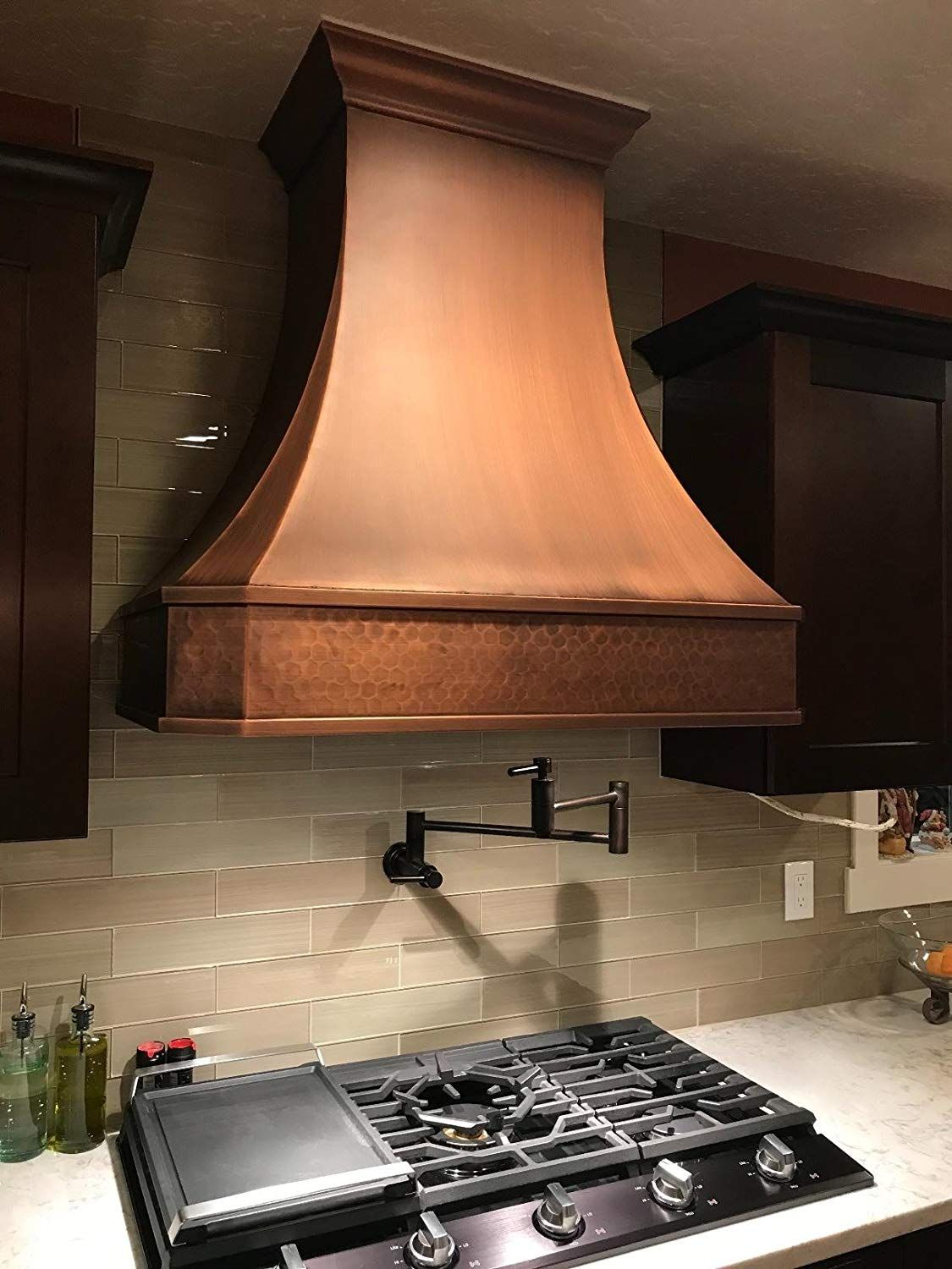 Pin By T Kane On Blue Kitchens Copper Kitchen Hood Copper Range Hood Copper Hood Vent