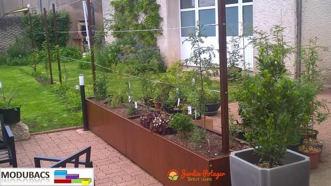 Bacs Potager Et Jardinieres En Alu Et Acier Ma Passion Du Verger Carre Potager Potager Permaculture