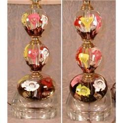 St Clair Paperweight Lamp Multicolor + FINIAL #1223094