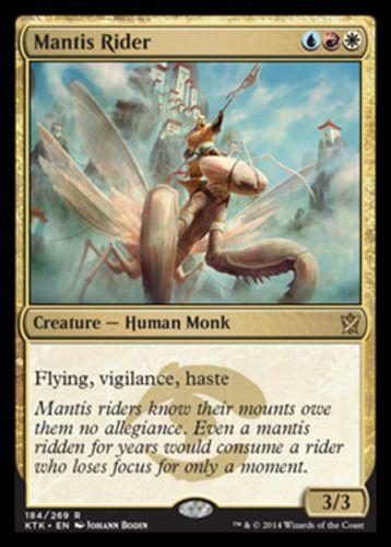 1 Mantis Rider = Gold Khans of Tarkir Mtg Magic Rare 1x x1