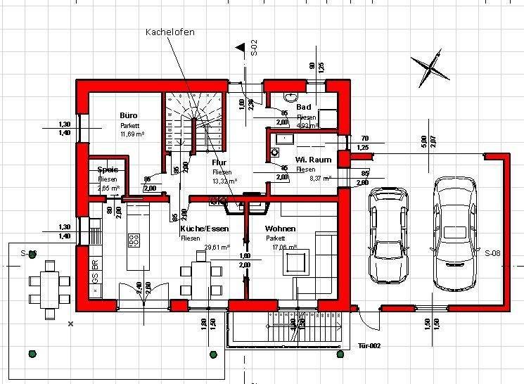 grundriss einfamilienhaus mit garage einfamilienhaus haus. Black Bedroom Furniture Sets. Home Design Ideas