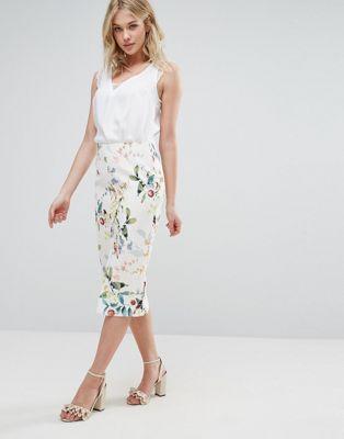 a90d7f9cb3 Oasis Bird Print Midi Pencil Skirt | My Closet! | Fashion, Latest ...