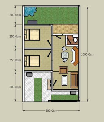 desain rumah modern ukuran 7x11   denah rumah, desain