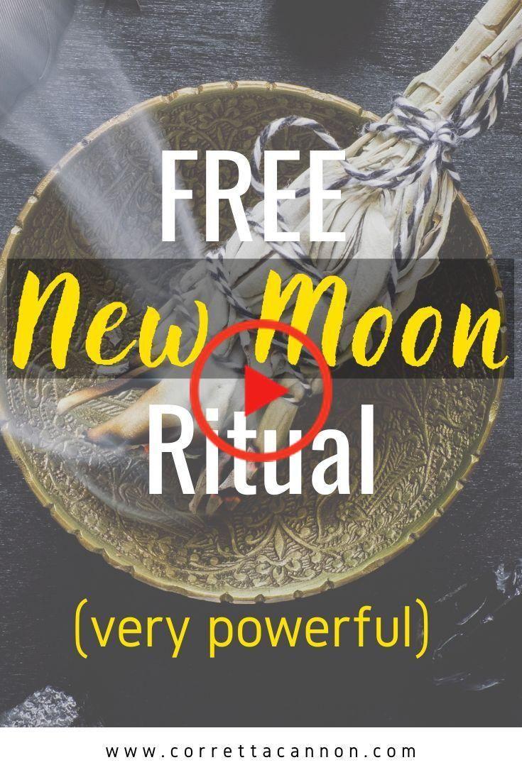 FREE New Moon and Full Moon Ritual | Corretta Cannon