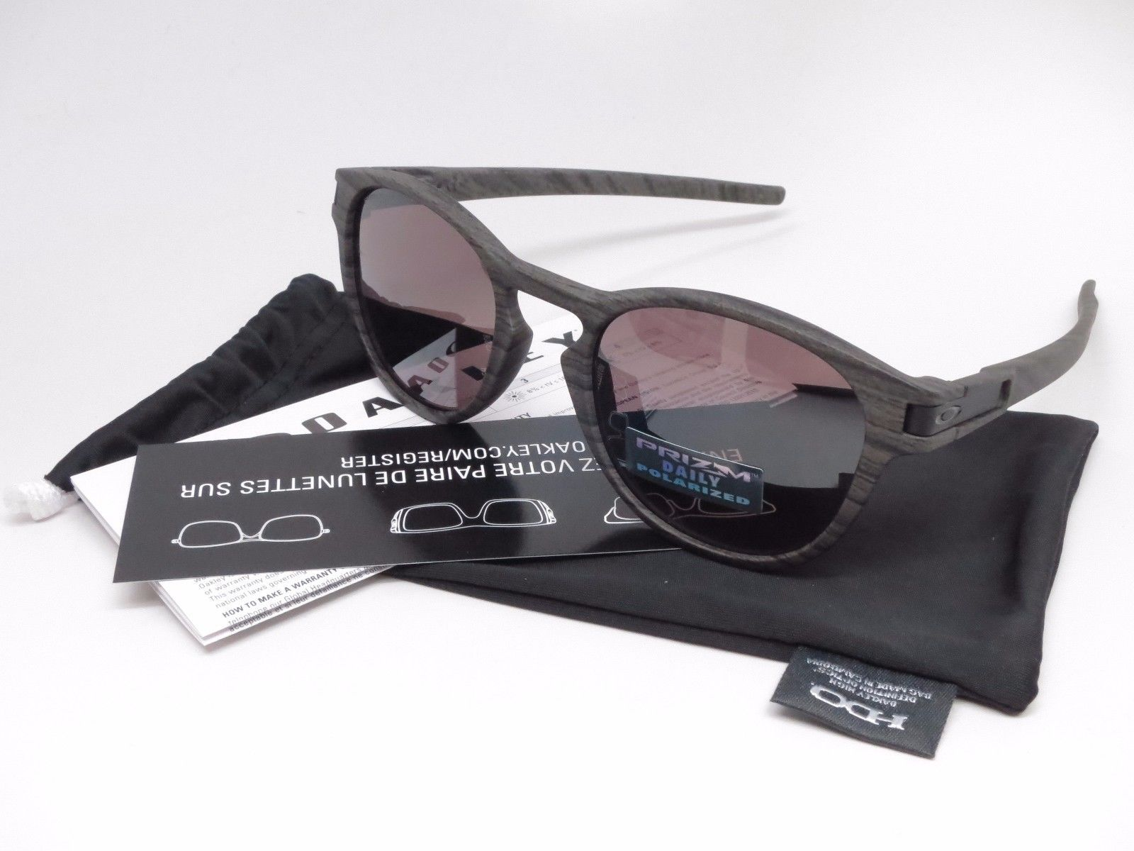 d873c1e78b Oakley Latch OO9265-12 Woodgrain w Prizm Daily Polarized Sunglasses ...