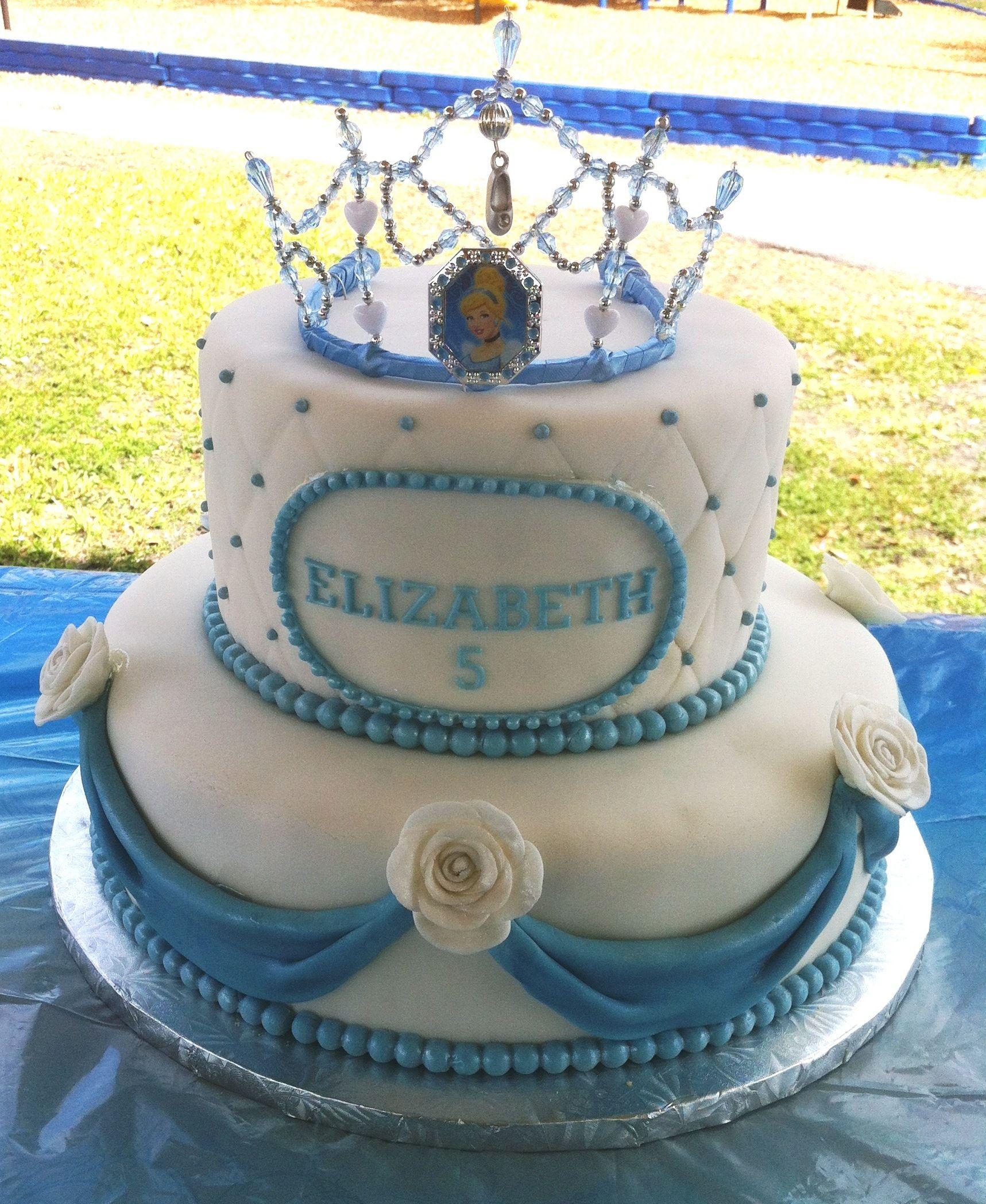 Terrific Cinderella Themed Cake Cinderella Theme Cake Cinderella Cake Personalised Birthday Cards Petedlily Jamesorg
