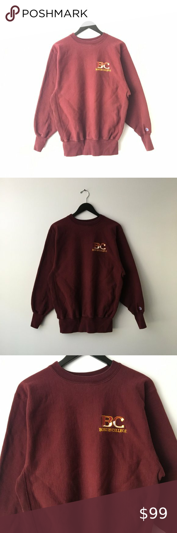 90s Champion Reverse Weave Boston Sweatshirt Xl Champion Reverse Weave Sweatshirts Sweaters Crewneck [ 1740 x 580 Pixel ]