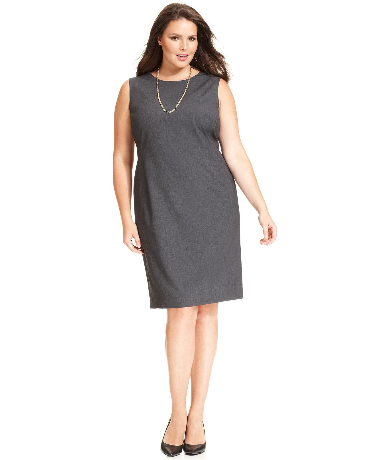 Jones New York Collection Plus Size Dress, Sleeveless Sheath - Plus ...