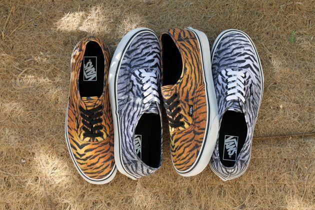 VANS AUTHENTIC TIGER | Sneakers, Motif leopard, Mode homme