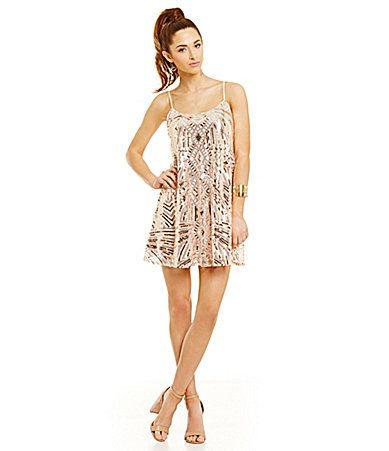 f8872d6bf Honey and Rosie Sequin Pattern Slip Dress #Dillards | Prom Queen ...