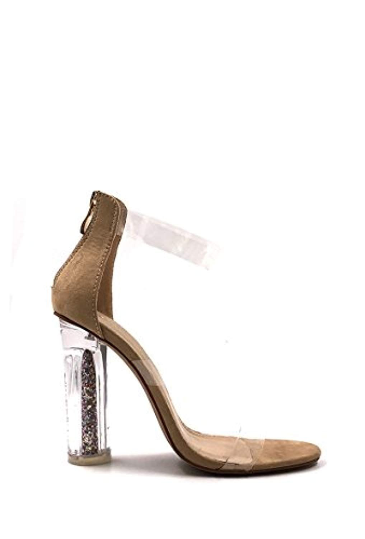 89fdd47ecc9 CHIC NANA . Chaussure Femme Mode Bottine à Talon Transparent. 2018 ...
